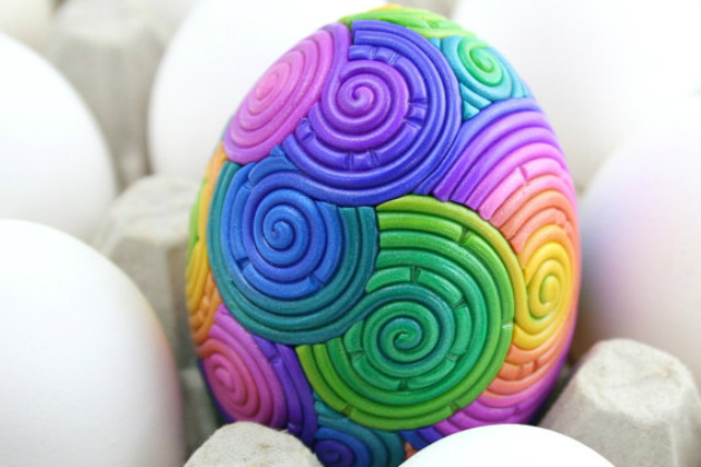 Rainbow Easter Egg